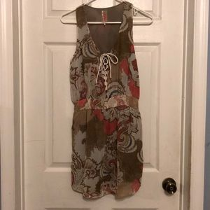 FREE PEOPLE dress with tie front